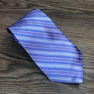 Hart Schaffner Marx Purple & Blue Stripe Tie